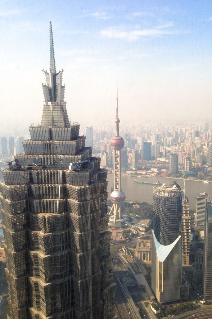 A view on the Jin Mao tower in Shanghai