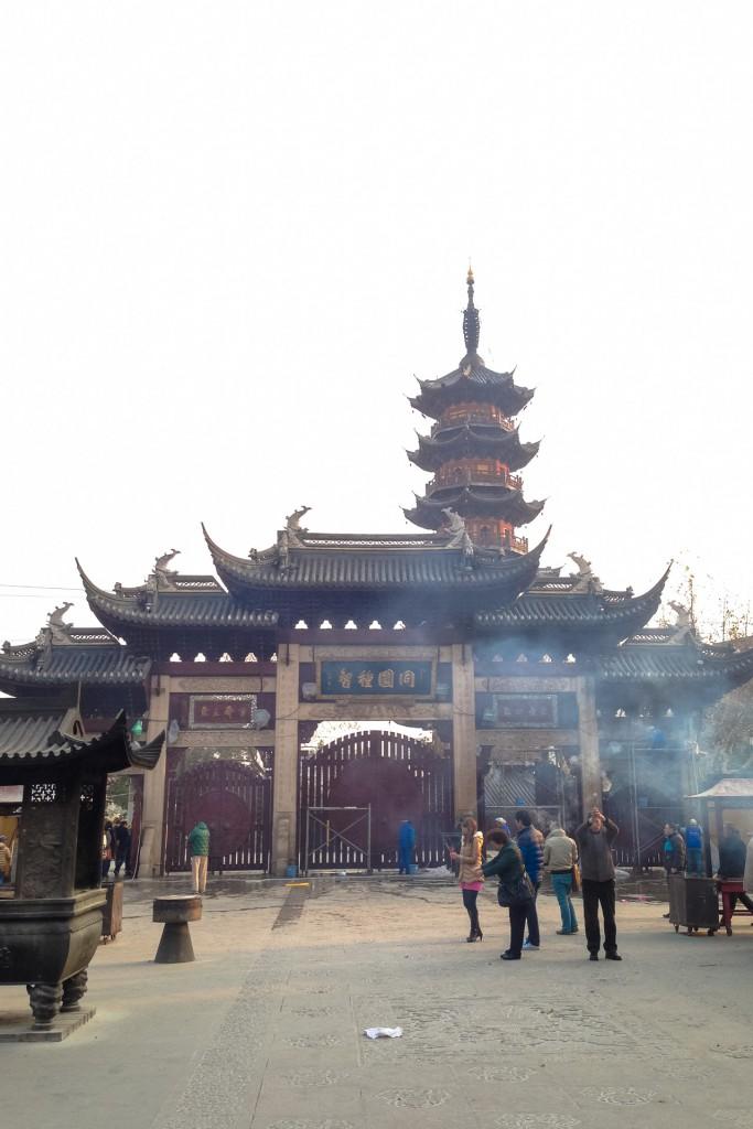The Longhua temple pagoda in Shanghai