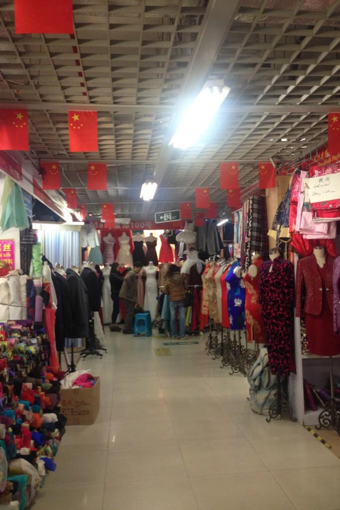 Inside the Shiliupu fabric market in Shanghai