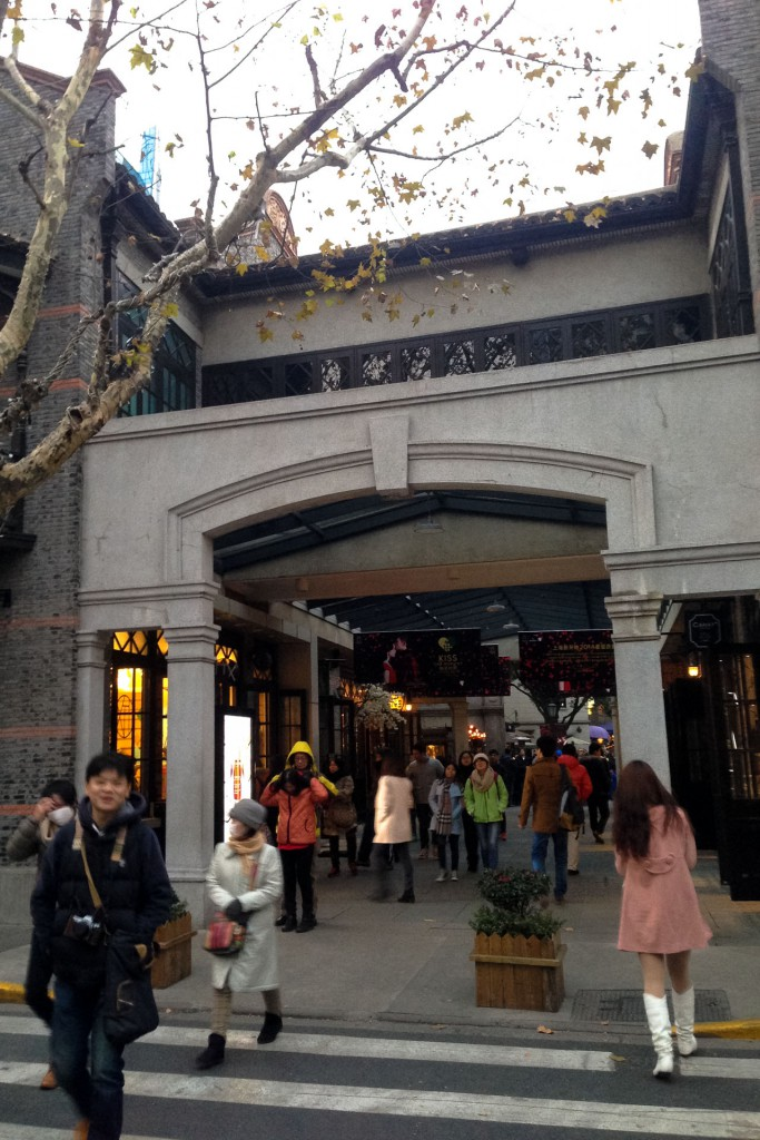 Outside Xintiandi shopping area in Shanghai China
