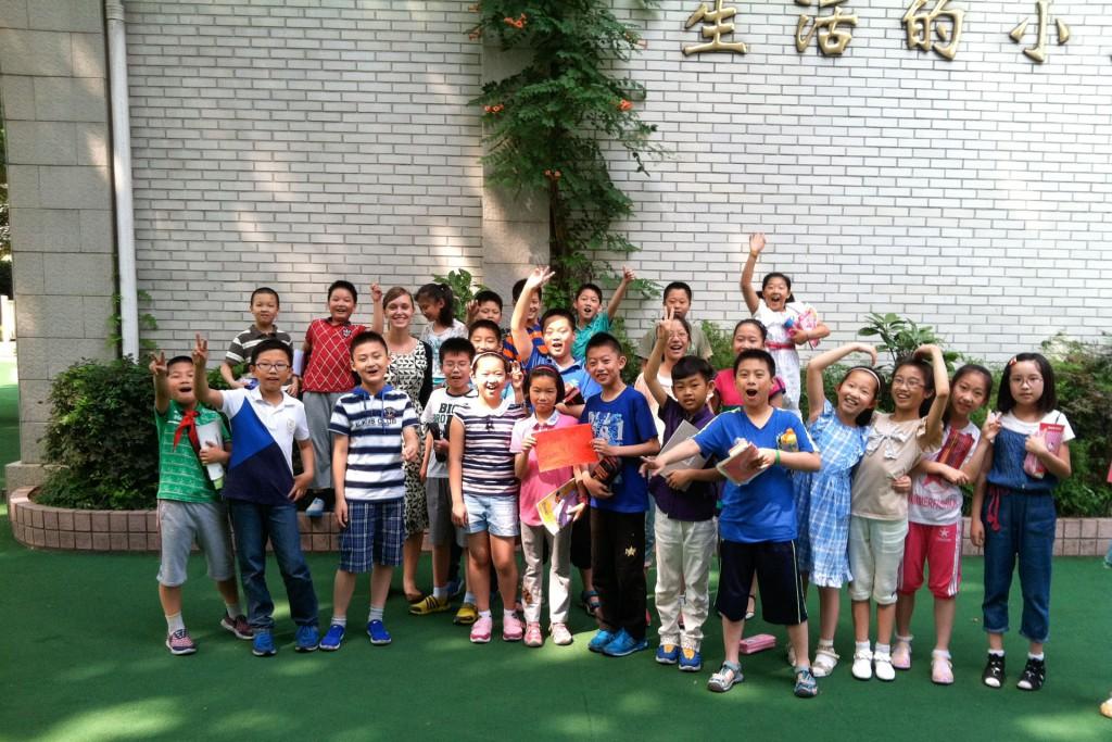 Primary school kids in Nanjing China
