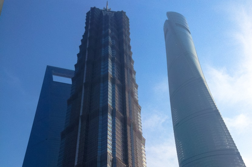 World Financial Centre Jin Mao Tower and Shangahi tower in Shanghai