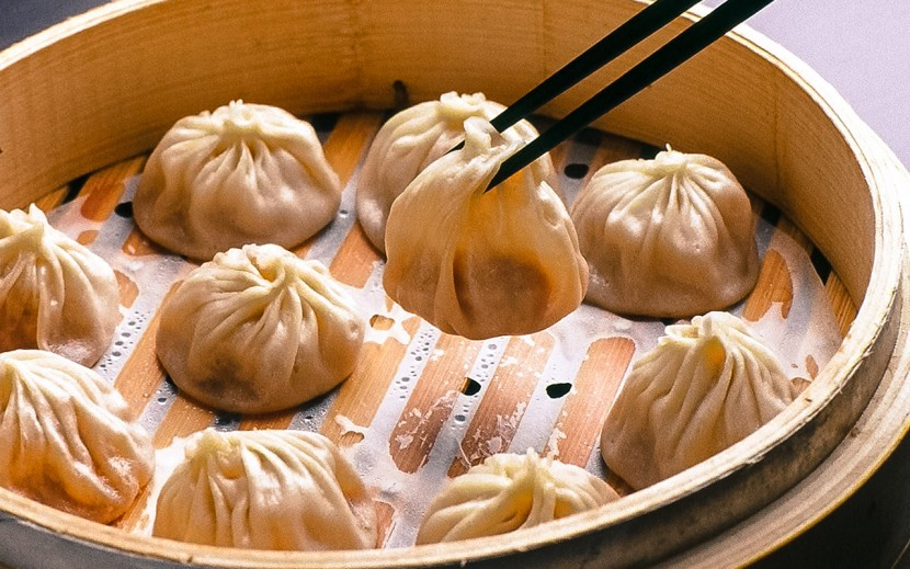 Xiaolongbao in a Chinese steamer