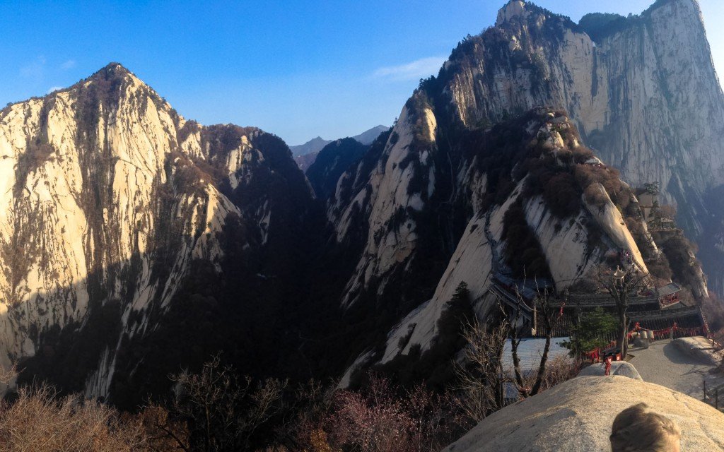 The view over Mt Hua Shan in Shaanxi province China