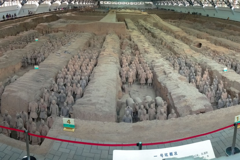 The terracotta warriors in Xi'an Shaanxi province