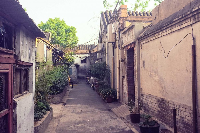 The view down a hutong in Beijing