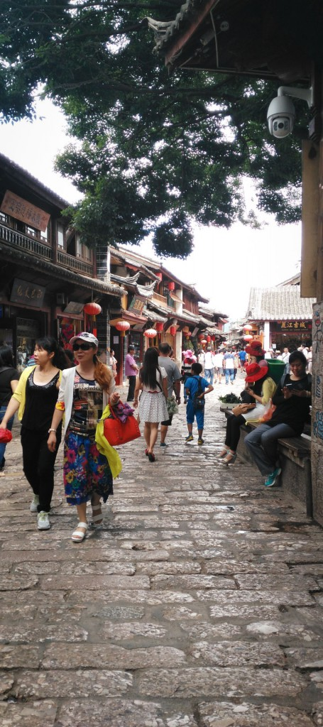 People walking in the old town of Lijiang Yunnan province