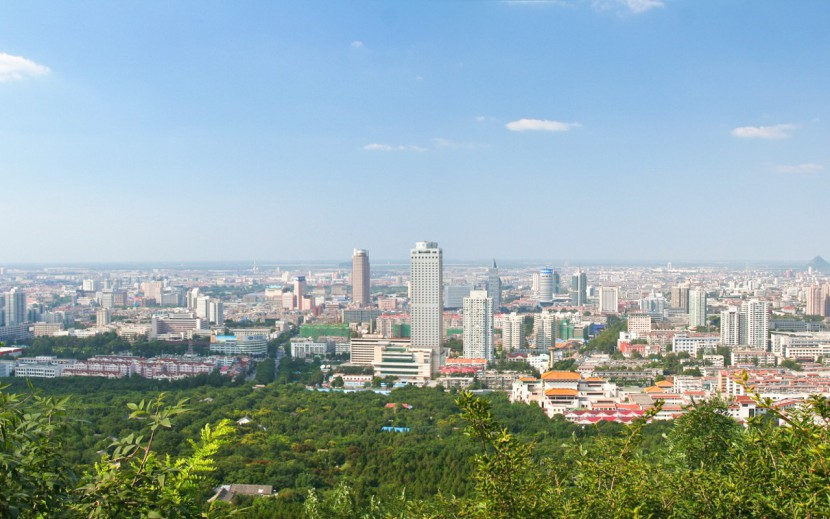 The skyline of Jinan in Shandong province, China