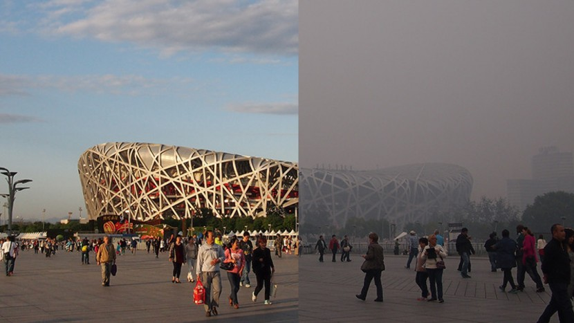 China pollution in Beijing