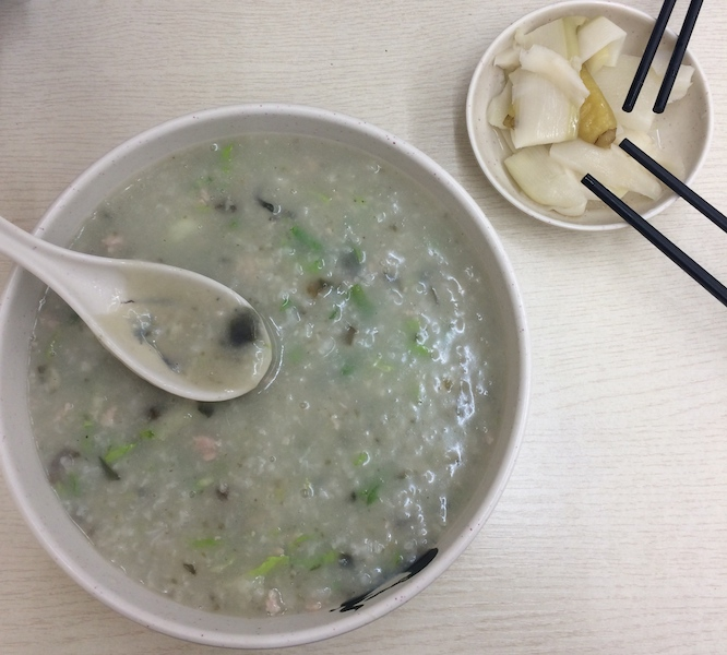 Chinese congee with Century egg
