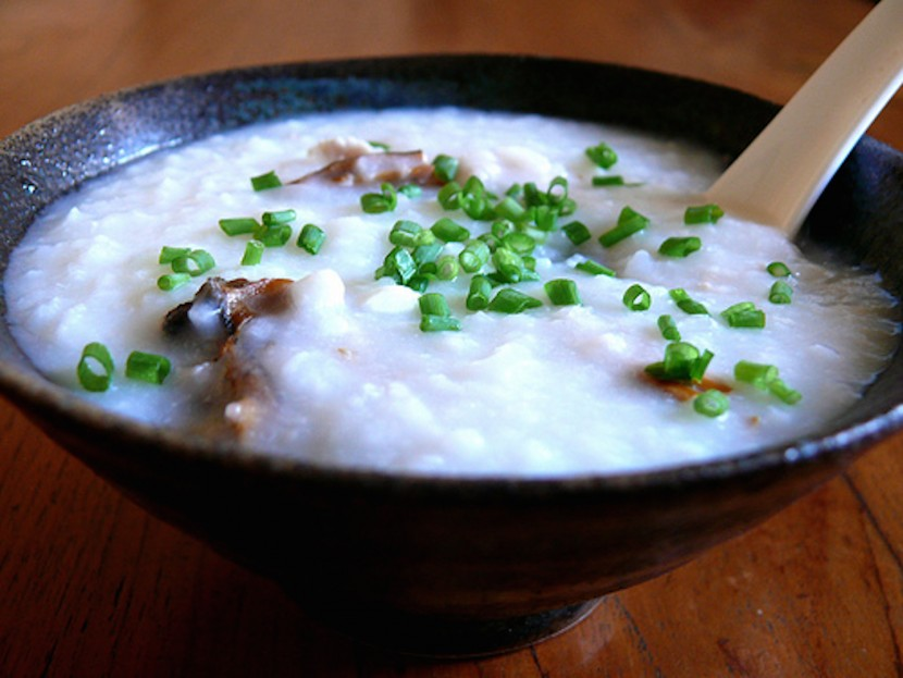 Chinese congee, a favorite Chinese food dish