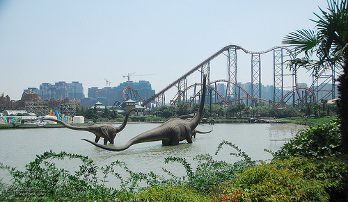 Changzhou Dinosaur Park, China, roller coaster