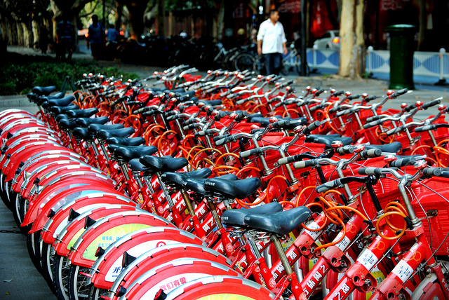 bikes in Hangzhou, China